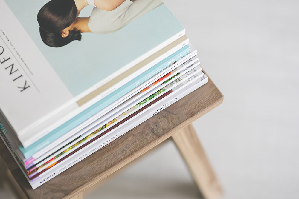 Magazines on a desk